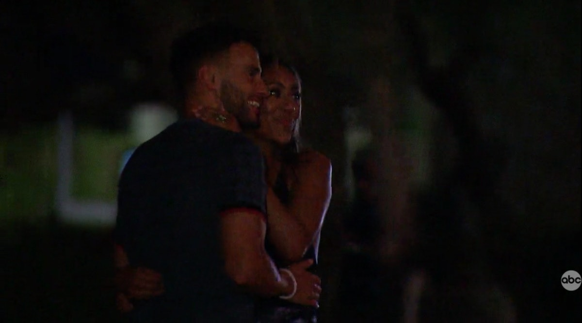 Tayshia Adams and Brendan Morais watching fireworks