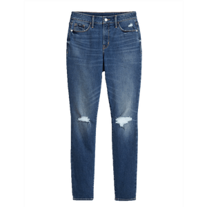 High-Waisted Distressed Pop Icon Skinny Jeans