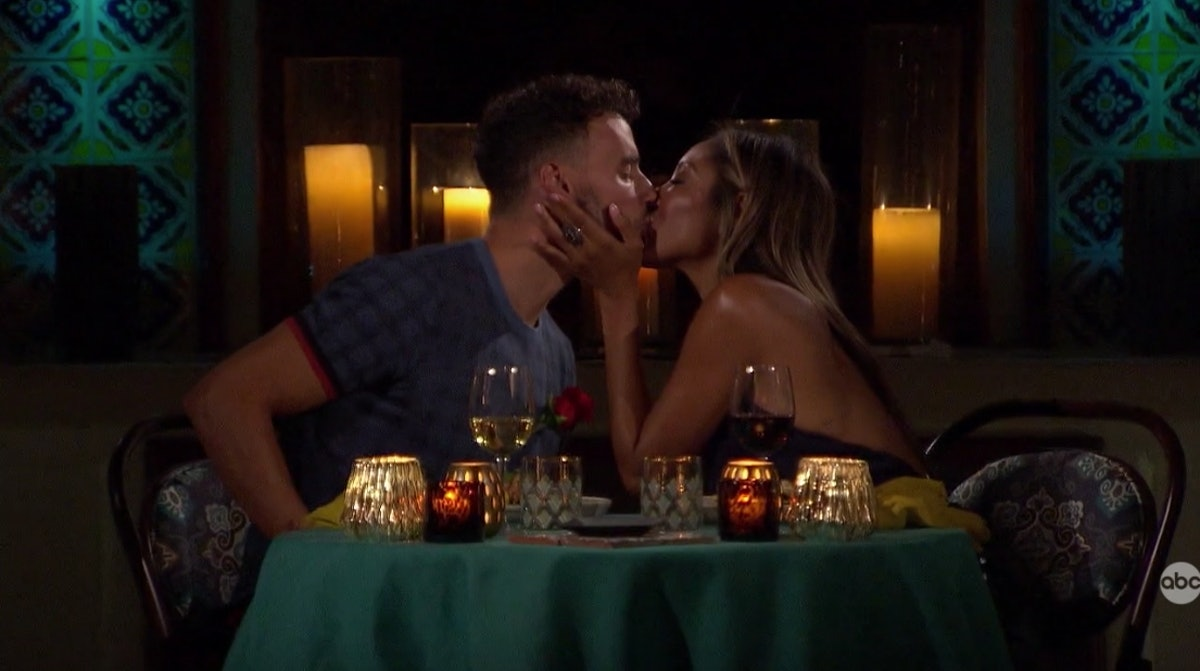 Tayshia Adams and Brendan Morais kissing