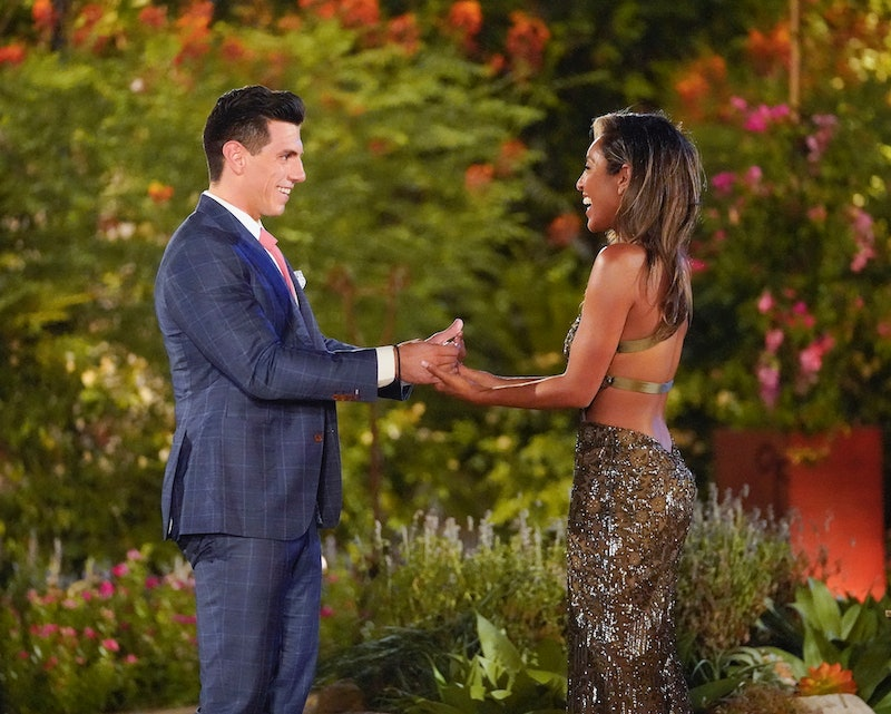 Peter Giannikopoulos and Tayshia Adams in 'The Bachelorette'
