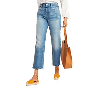 Extra High-Waisted Sky-Hi Straight Distressed Jeans