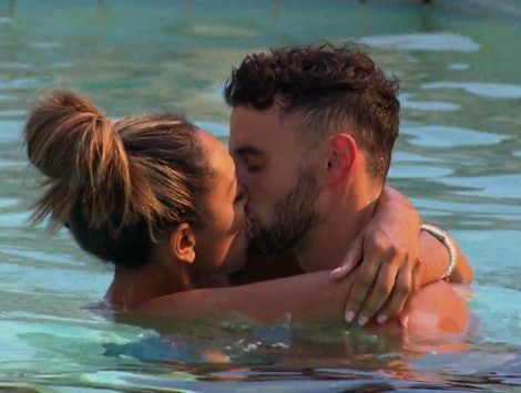 Tayshia Adams and Brendan Morais kissing on The Bachelorette
