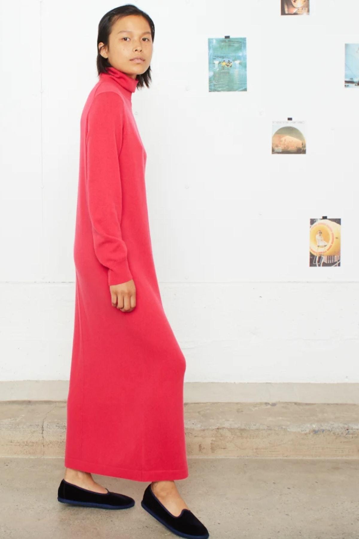 Entireworld Turtleneck Sweater Dress