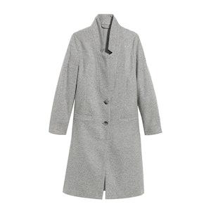 Oversized Soft-Brushed Overcoat