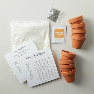 Mini Flower Pot Bread Kit, Set of 8