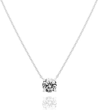 PAVOI 14K Gold Swarovski Crystal Necklace