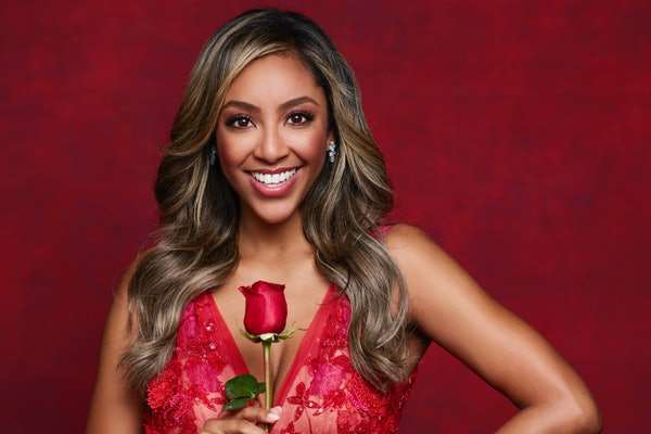 "Tayshia Adams stars in Season 16 of ""The Bachelorette."""