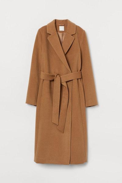 Tie Belt Coat