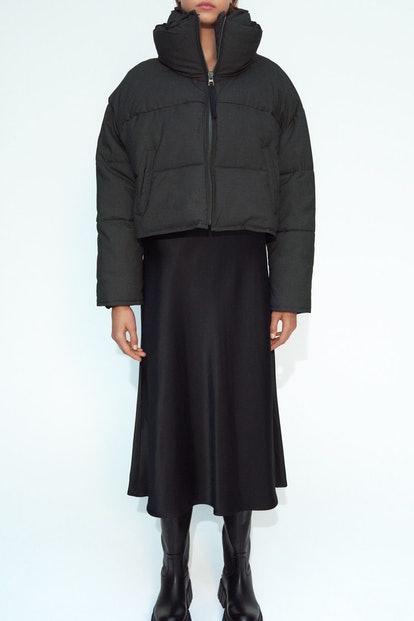Contrasting Puffer Jacket