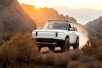 The Rivian R1S.