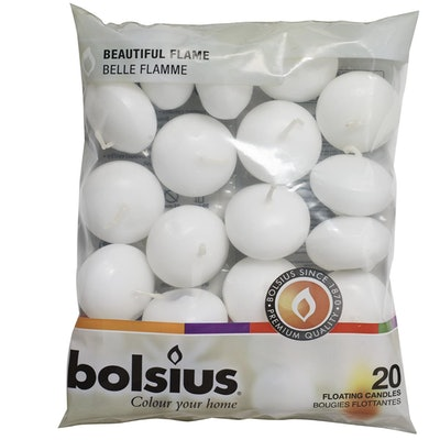 Bolsius Unscented Floating Candles (20-Pack)