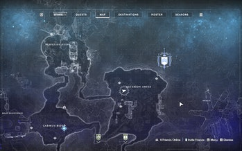destiny 2 beyond light asterion abyss lost sector entropic shard location