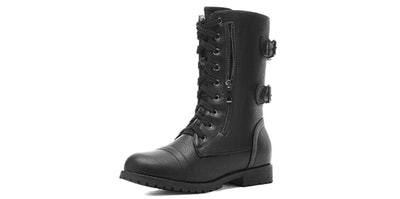 DREAM PAIRS Faux Fur Lined Combat Boots