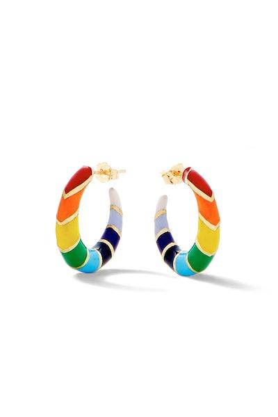 Petite V Rainbow Hoops