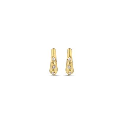 Triple Pear Demi Hoop Earrings