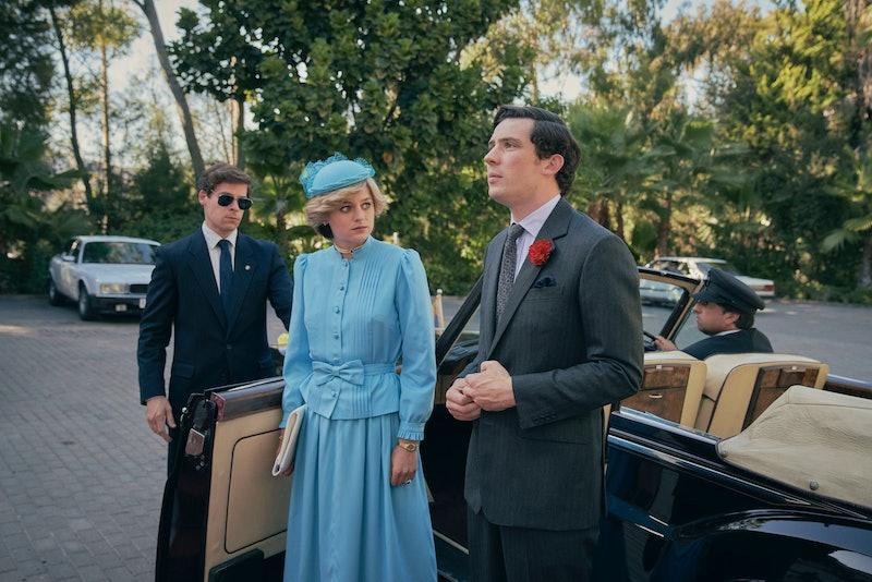 Princess Diana and Prince Charles in 'The Crown' Season 4 via the Netflix press site