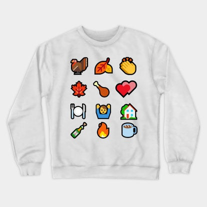 Thanksgiving Emoji Crewneck Sweatshirt