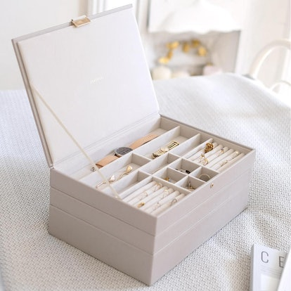 Stackers Taupe Supersize Premium Stackable Jewelry Box
