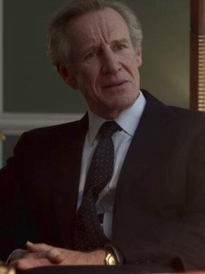 Nicholas Farrell as Michael Shea in 'The Crown.'