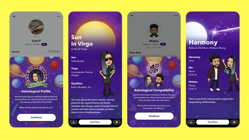 Snapchat has a new astrology feature for daily horoscopes and zodiac sign compatibility.