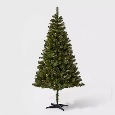6ft Pre-lit Artificial Christmas Tree Alberta Spruce Multicolored Lights - Wondershop™