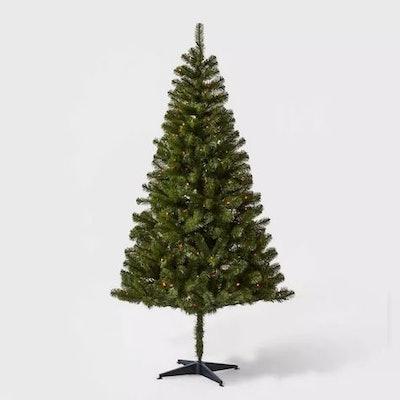 6ft Pre-lit Artificial Christmas Tree Alberta Spruce Multicolored Lights - Wondershop™