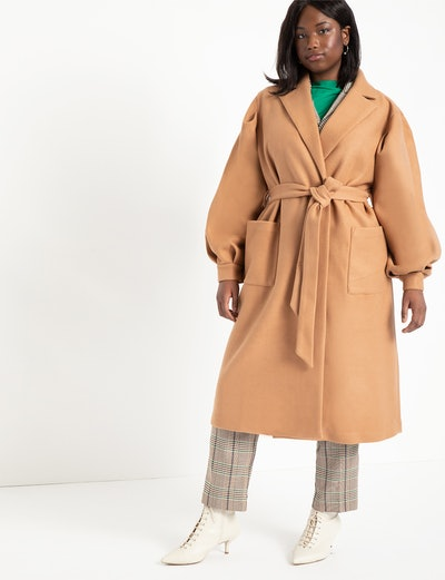 Puff Sleeve Robe Coat