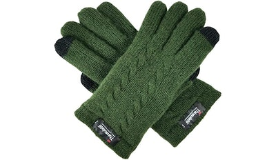 Bruceriver Pure Wool Knit Gloves