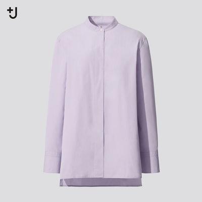 +J Supima Cotton Stand Collar Shirt
