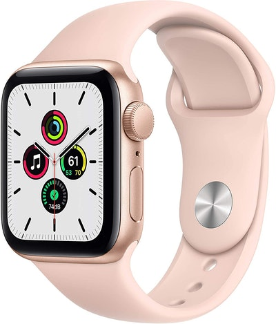 Apple Watch SE with Gold Aluminum Case and Pink Sand Sport Band
