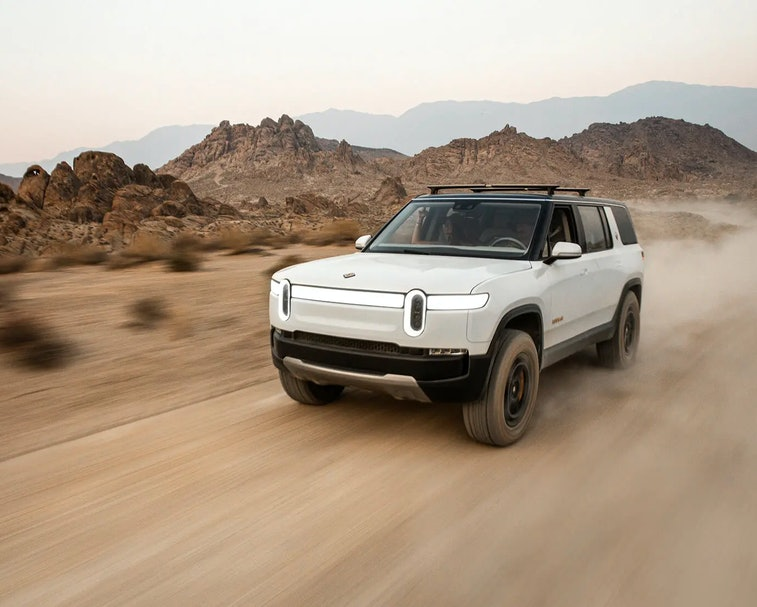 Rivian's R1S is an all electric SUV that will start at $70,000.