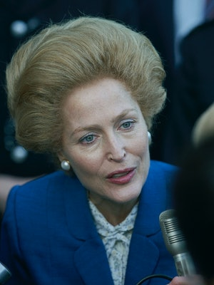 Gillian Anderson as Margaret Thatcher in 'The Crown.'