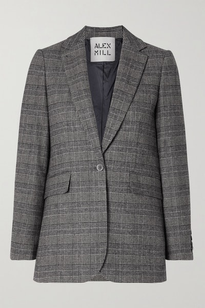 Alex Mill Ryder Prince of Wales Checked Woven Blazer