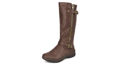 DREAM PAIRS Women's Faux Fur Knee High Boot