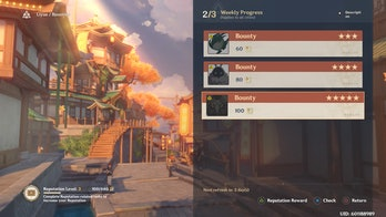 Genshin Impact Update 1.1 Bounty options reputation system