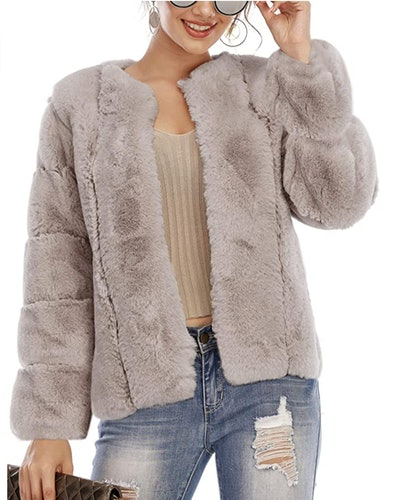 Simplee Fluffy Jacket
