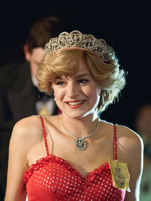 Princess Diana in 'The Crown,' via Netflix press site.