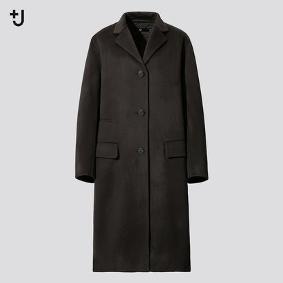 WOMEN +J CASHMERE-BLEND CHESTER COAT