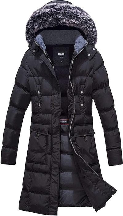 Elora Fleece-Lined Maxi-Puffer