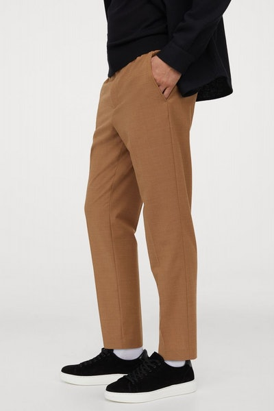 Cropped Wool-Blend Pants