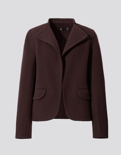 WOMEN +J DOUBLE FACE STAND COLLAR JACKET