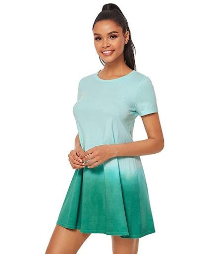 Romwe Ombré T-Shirt Dress