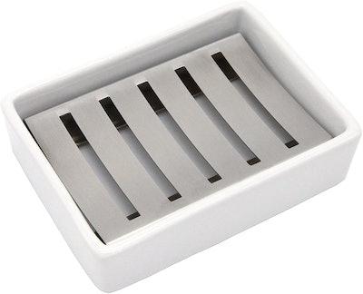 Lofekea Ceramic Stainless Steel Soap Holder