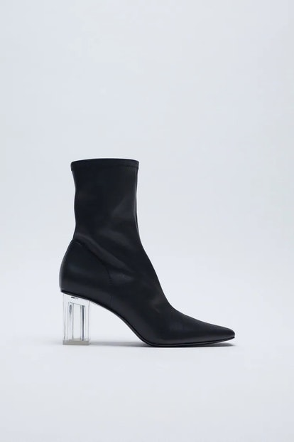 Methacrylate Heel Ankle Boots