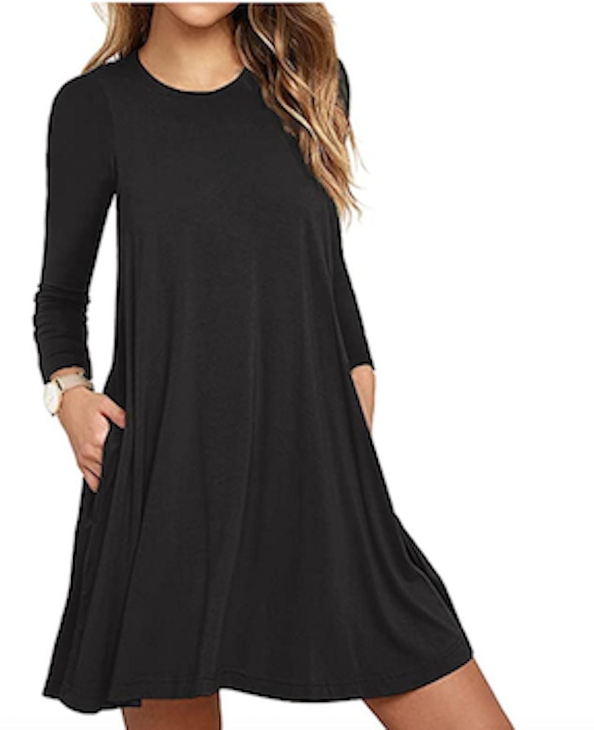 Unbranded Long-Sleeve T-Shirt Dress