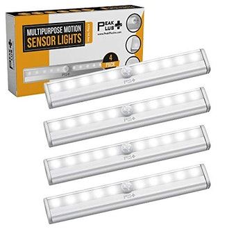 PeakPlus LED Motion Sensor Light 10 LED Battery Operated Lights