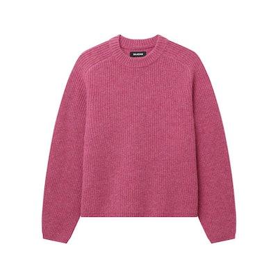 Cashmere Ribbed Mockneck Sweater
