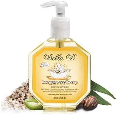 Bella B Naturals Bee Gone Cradle Cap Baby Shampoo, 8 Oz.