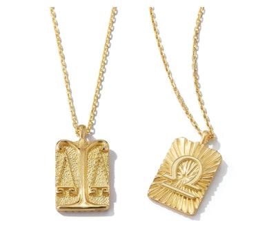 Libra Zodiac Pendant Necklace