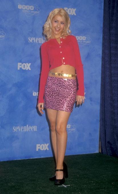 Christina Aguilera 2000s Trends Cardigans